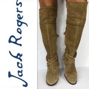 Jack Roger Suede Knee High Boots Sz 8